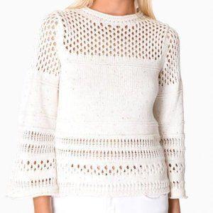 Rebecca Taylor LA VIE Crochet Confetti Sweater M